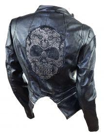 Biker Jacke Skull Totenkopf
