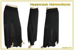 Hosenrock Haremshose schwarz - bis Größe 58