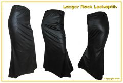 Plussize Schwarzer Rock Lederoptik XXL - bis Größe 58 lieferbar