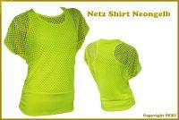 Netz Tshirt Neongelb