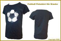 Fußball Poloshirt für Kinder Dunkelgrau