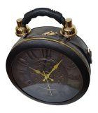 Designer Handtasche mit echter Uhr Schwarz