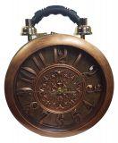 Designer Handtasche mit echter Uhr Braun Kupfer