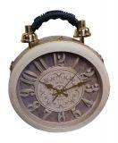 Designer Handtasche mit echter Uhr Beige