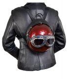 Designer Handtasche Motorradhelm Schwarz