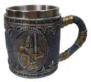 Mittelalter Bierkrug Ritter mit Schwert