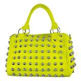 Topmode Handtasche Neongelb mit Nieten