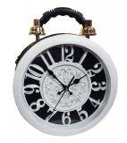 Designer Handtasche mit echter Uhr Schwarz-Weiß