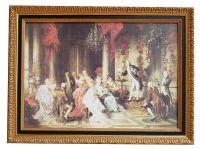 Gemälde Der Taschenspieler von Carl Schweninger jr. Kunstdruck auf echter Leinwand