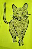 Plus-Size Tunika Süße Katze Gelb XXL