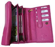 Echt Leder Damen Geldbeutel Pink Superordnung
