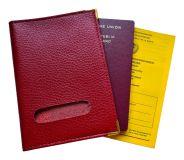 Impfpasshülle - Schutzhülle für Impfpass und Reisepass aus gutem Kunstleder Rot