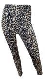 Leopard Sport Leggings Braun