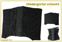 Miedergürtel in schwarz - für die perfekte Figur