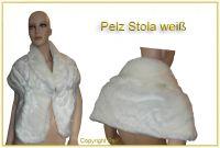 Pelz Stola weiß (Webpelz)