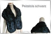 Pelz-Stola Bolero schwarz (Webpelz)