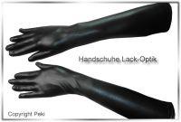 Handschuhe Lack Optik Ellenbogenlang 2