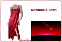 Nachtkleid Satin rot