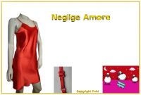 Neglige Satin Amore rot