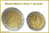 Riesenmünze 2 Euro für Münzentricks