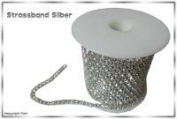 Strassband Crystal Silber SS12 3mm 1 Meter