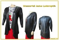 Jacke Blogger Blazer XXL in Lederoptik A74