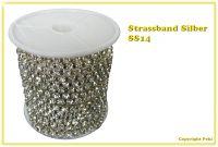 Strassband Crystal Silber SS16 4mm 1 Meter