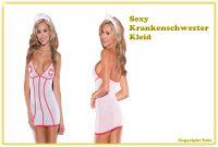 Sexy Krankenschwester Kleid - 3-teilig - super preiswert