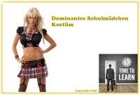 Dominantes Schulmädchen Kostüm II - 5-teilig