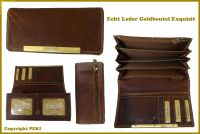 Echt Leder Luxus Geldbeutel Exqusit in braun
